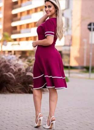 Vestido evangélico social rodado godê midi roupas femininas #la