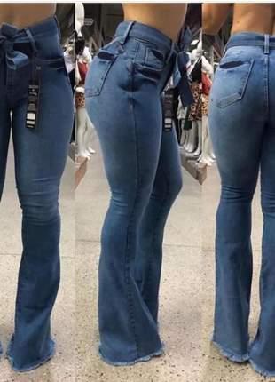 Calça jeans feminina alta qualidade top #la