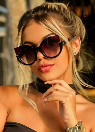 Óculos de praia verão lente degrade fume feminino imperdível