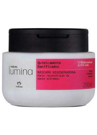 Máscara regeneradora quimicamente danificados lumina - 250ml