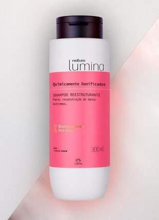 Shampoo reestruturante quimicamente danificados lumina - 300ml