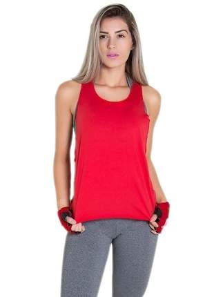 Regata fitness feminina lisa vermelho