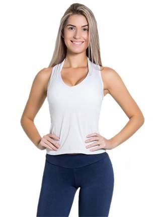 Camiseta fitness dry fit lisa branco
