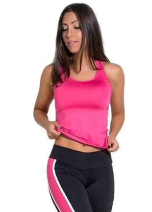 Camiseta fitness nadador com abertura nas costas
