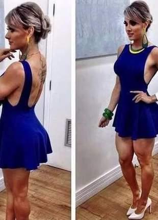 Vestido paniquete curto costas nua moda festa balada