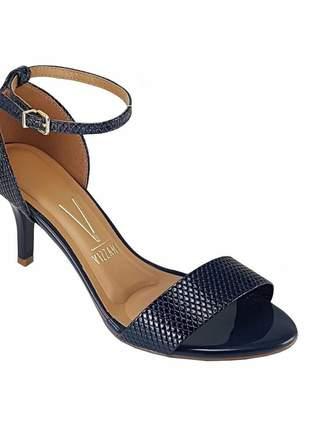 Sandália feminina vizzano verniz lezard azul 6276.416