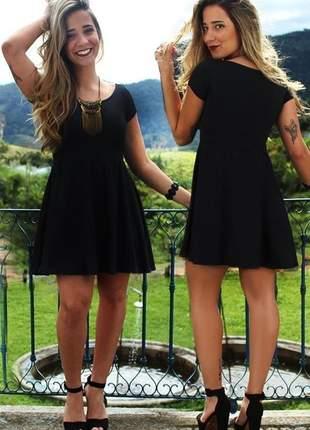 Vestido godê de manguinha moda verão casual