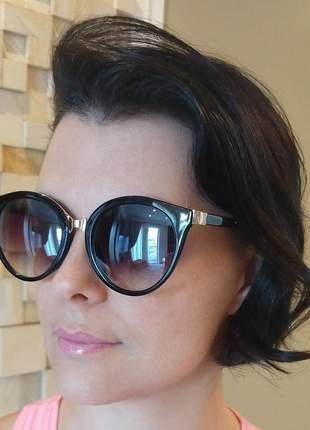 Óculos de sol feminino degrade + case e flanela lançamento 2020