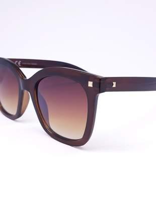 Óculos feminino marrom quadrado - proteção uv