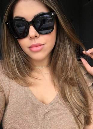 Óculos feminino preto quadrado - proteção uv