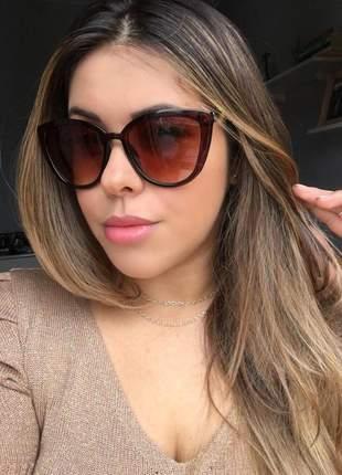 Óculos feminino gatinho marrom - proteção uv