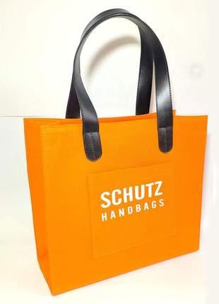 Bolsa handbags lona laranja estilo sacola peça única