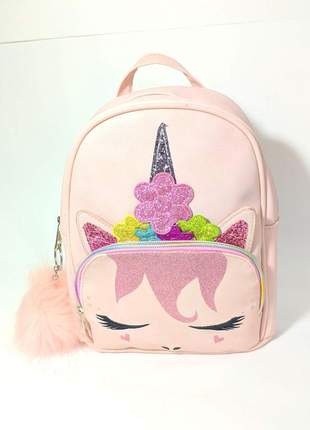 Bolsa unicórnio infantil rosa
