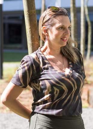 Blusa viscolinho tigre