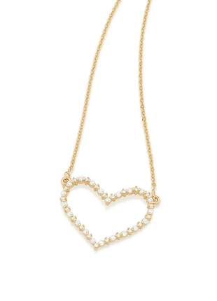 Gargantilha rommanel folheada a ouro pendant  coração 531977