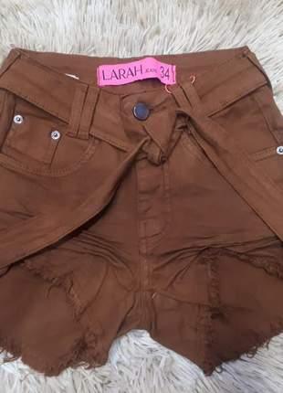 Shorts jeans cintura alta coleção verão