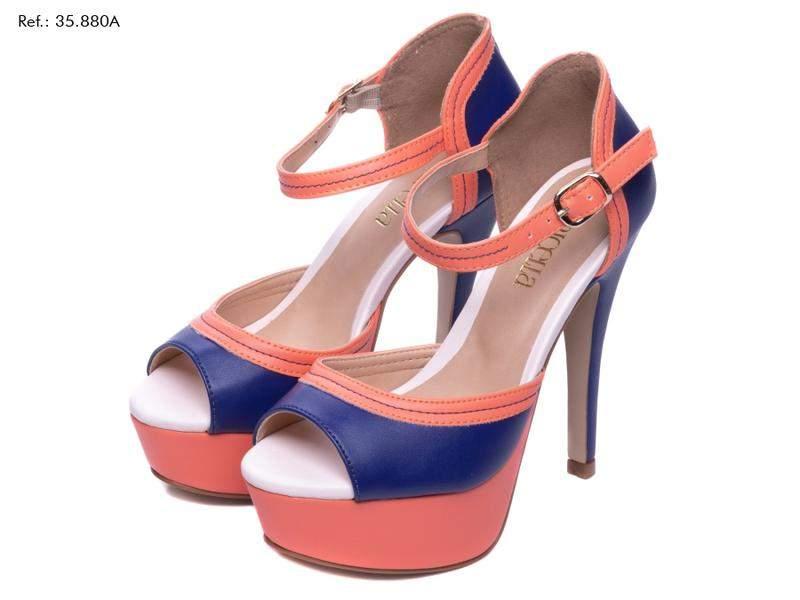 Tamanco Salto Médio Bicolor | Calçados PICCADILLY (con