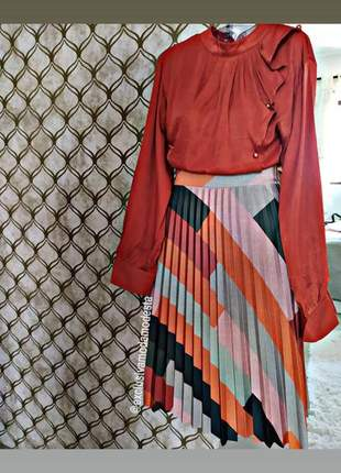 Conjunto modesto - saia + camisa