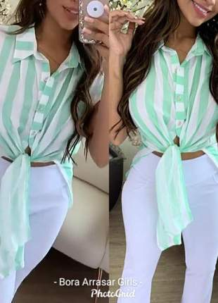 Camisa listras longuete costas