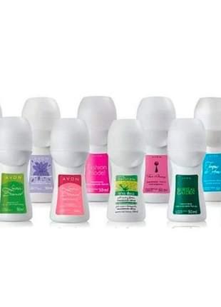 Desodorante avon feminino 50ml kit com 5 unidades