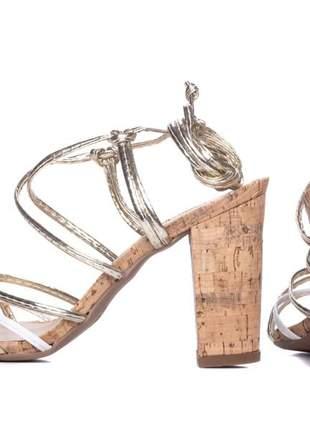 Sandálias femininas ouro de amarrar  coleção 2020