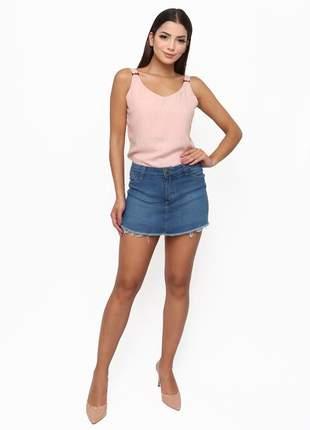 Shorts saia sisal jeans - classic blue
