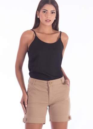 Bermuda sisal jeans meia coxa