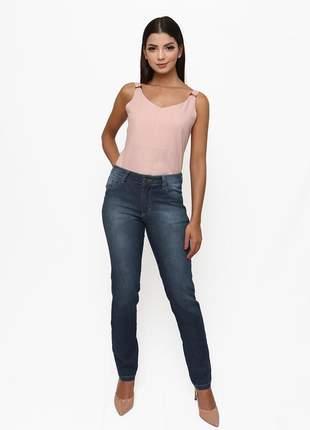 Calça sisal jeans cigarrete skinny