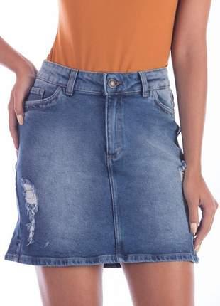 Saia jeans estonado