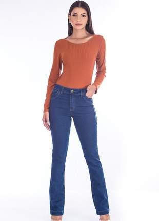 Calça sisal jeans bootcut blue jeans