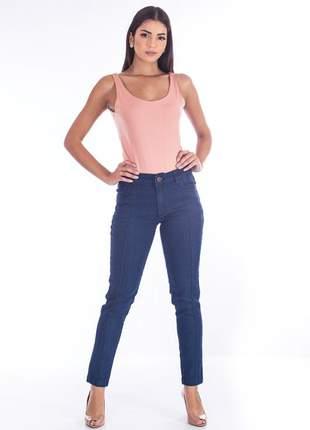 Calça sisal jeans cigarrete skinny jeans