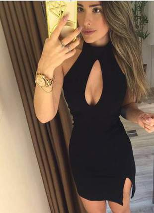 Vestido decote gota