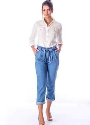 Calça sisal jeans jogger blue jeans