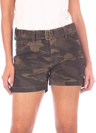 Shorts sisal jeans camuflado