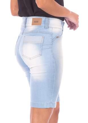 Bermuda sisal jeans ciclista delavê azul