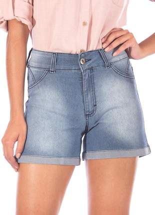 Shorts sisal jeans blue jeans strass