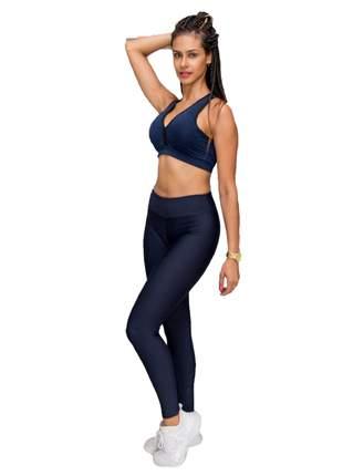 Calça legging suplex azul marinho power potential