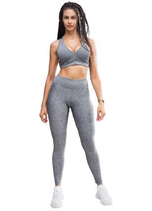 Calça legging cinza de suplex - power potential