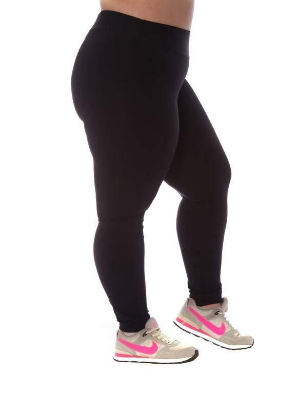 Maria do Ingá / Legging plus size básica em poliamida