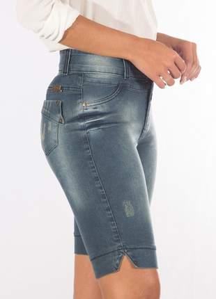 Bermuda sisal jeans ciclista blue jeans azul