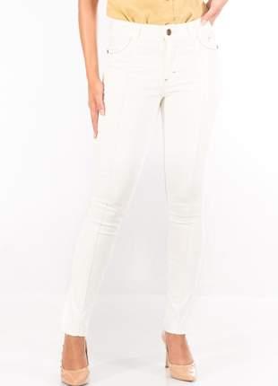 Calça sisal jeans capri off white