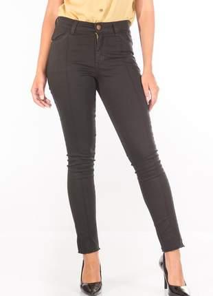 Calça sisal jeans capri preto