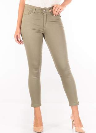 Calça sisal jeans capri verde