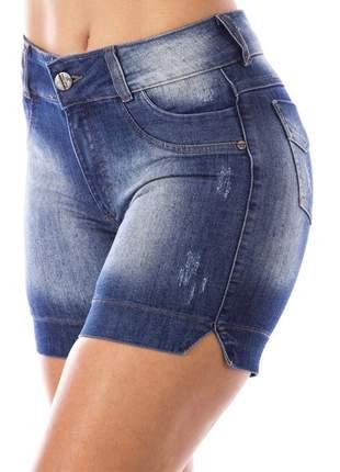 Bermuda meia coxa jeans