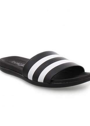 Sandália chinelo preto slide beira rio conforto promoção imperdível envio imediato