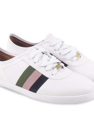 Tênis branco vizzano casual feminino sapatênis design esportivo sapatilha confortável