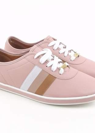 Tênis vizzano casual feminino sapatênis design esportivo sapatilha confortável rosa