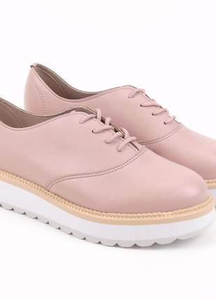 Tênis feminino sapatênis casual beira rio sapato plataforma flatform tratorado rosa