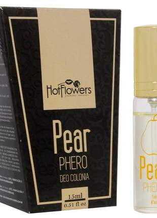 Deo colônia feminino pear phero hot flowers - 15ml