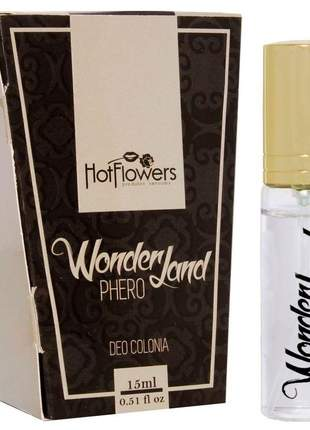Deo colônia wonder land phero hot flowers - 15ml